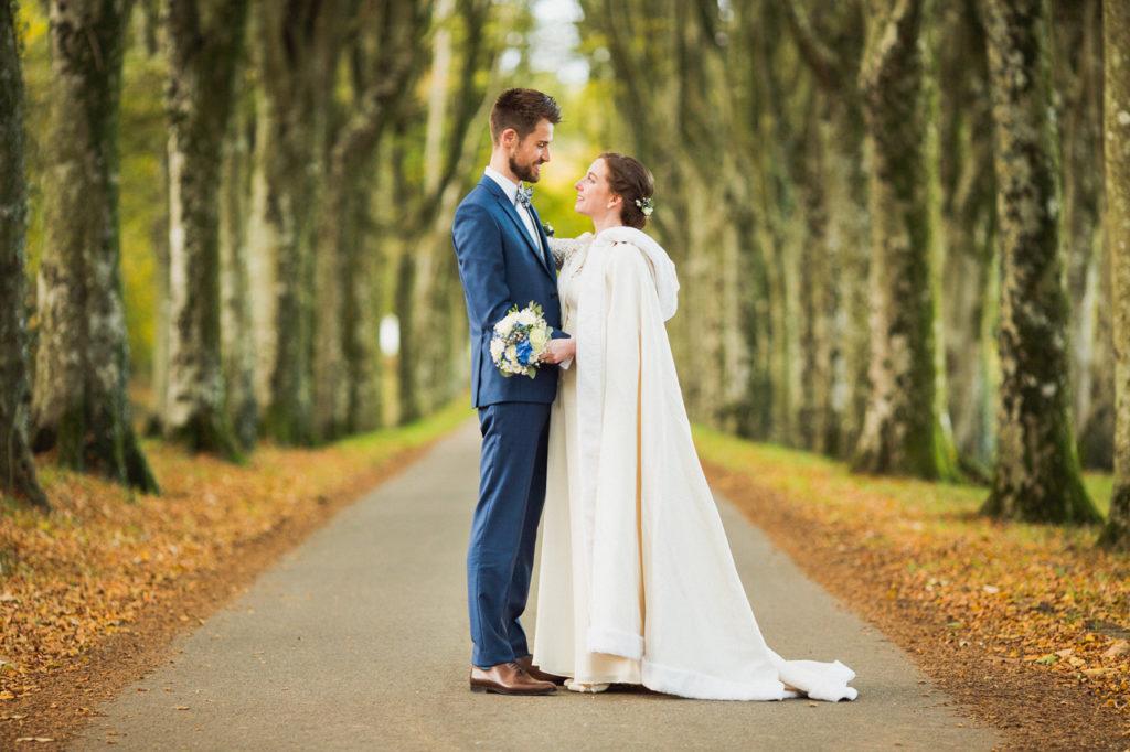 photo de couple mariage Pont Labbe quimper