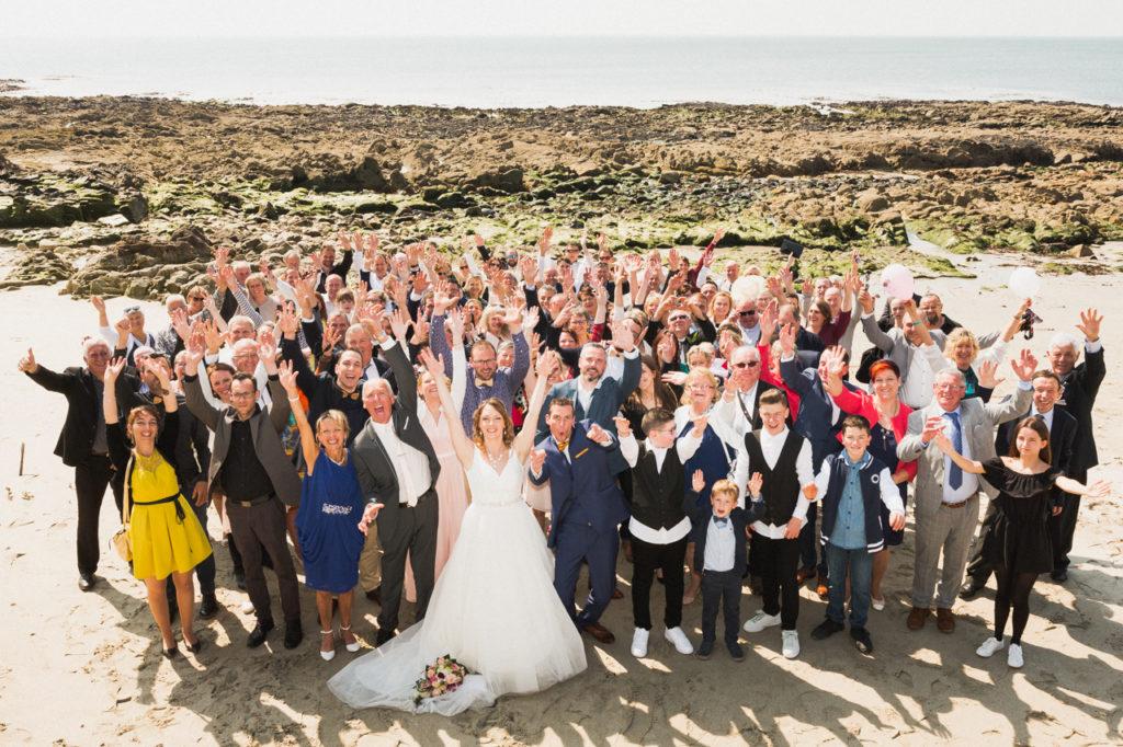 coiffure de la mariée photographe de mariage à Benodet photo de groupe de mariage benodet