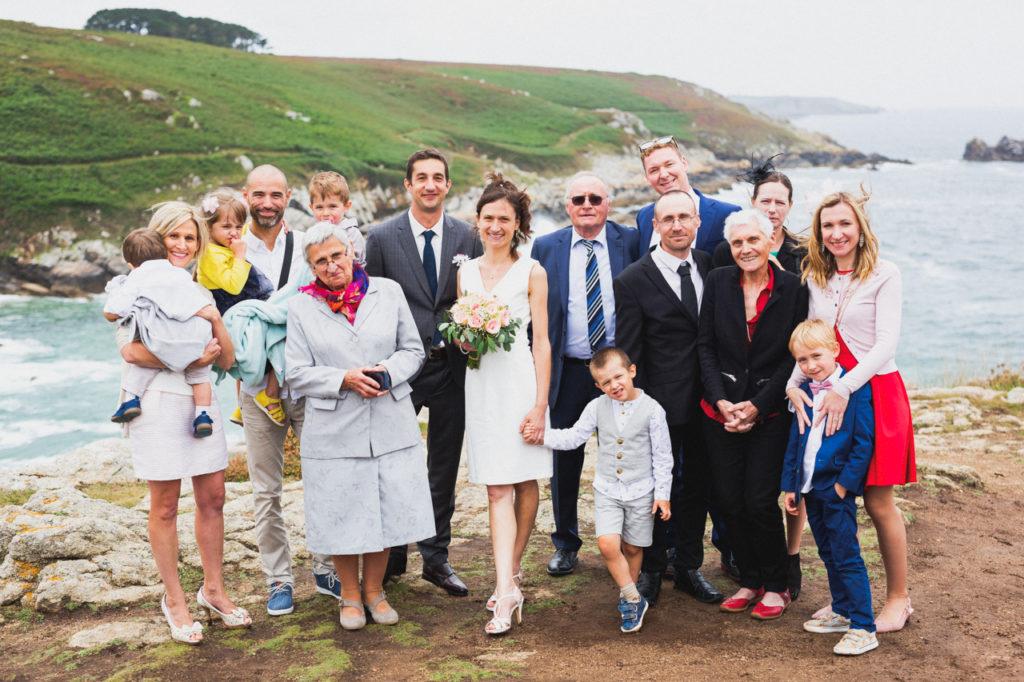 coiffure de la mariée photographe de mariage à Quimper Douarnenez photos de groupe pointe du millier