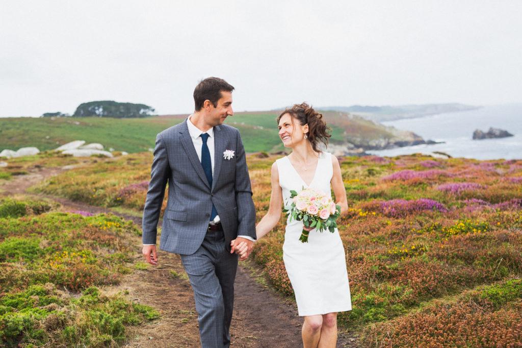 photos de groupe pointe du milliercoiffure de la mariée photographe de mariage à Quimper Douarnenez