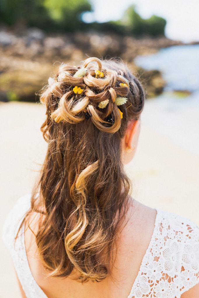 coiffure de la mariée à Douarnenez